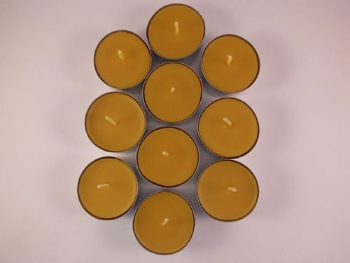 10 Handmade Pure Beeswax Tea Lights  (Free Shipping UK)